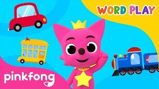 Vehicles | Word Play | 3D Nursery Rhyme | Pinkfong Songs for Children