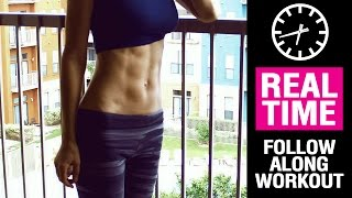 Set your abs on fire!! 6-pack abs workout for women - REAL TIME