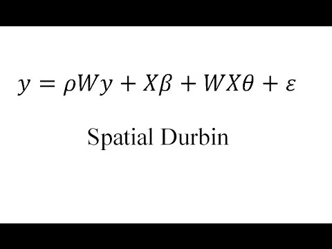 Spatial Econometrics Introduction: An Overview of Models (Old Version-See Comments)