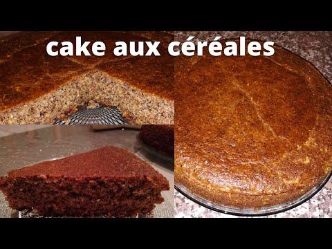 كيكة-بالدقيق-القمح-الكامل-والزرارع-#cake-complet-aux-céréales-cake-with-wholemeal-flour-cereals
