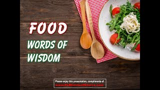 Food Words of Wisdom
