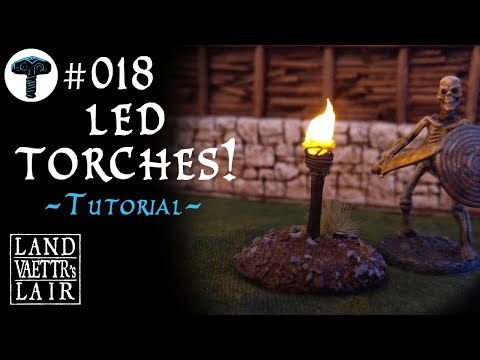 Crafting LED Torches for Tabletop RPG (tutorial)