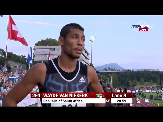 Wayde Van Niekerk WINS and BEATS WARREN WEIR runs 19 94 Breaks SA 200m NR Luzern 2015