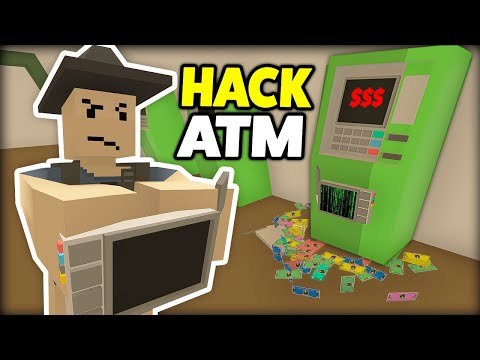 HACKING AN ATM For BIG Cash! -  Unturned Roleplay Rags To Riches New Life EP 3 (Bank Robbery!)