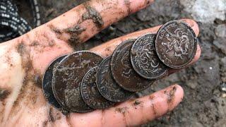 клад Царских монет на поисковый магнит шокировали меня!!! search magnet