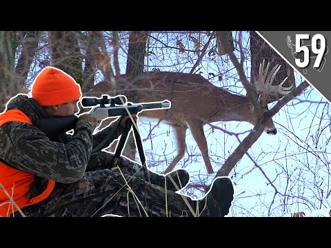 GIANT BUCK in the SNOW! (SHOT FIRED!) – Iowa PUBLIC LAND Hunting