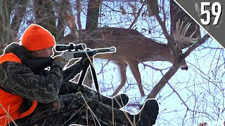 GIANT BUCK in the SNOW! (SHOT FIRED!)  Iowa PUBLIC LAND Hunting