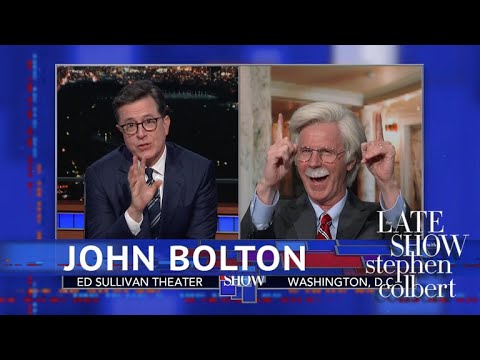 Stephen Colbert vs. John Bolton Is A Madman