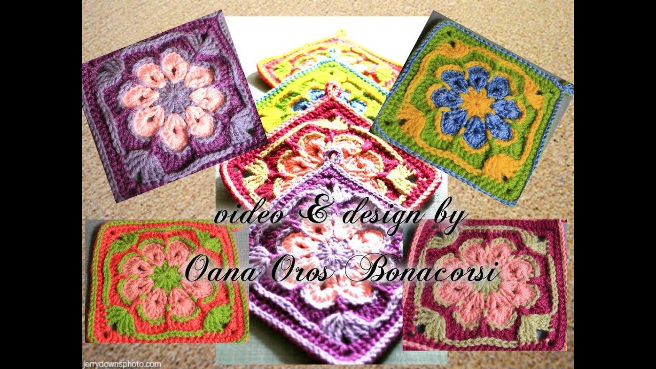 Crochet African Flower Square By Oana Youtube