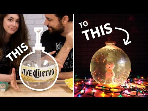 Holiday Thrift Store CHALLENGE (DIY Snow Globe)