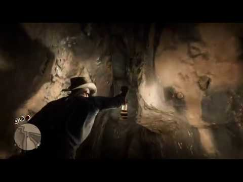 Elysian Pool Secret Waterfall Cave   Red Dead Redemption 2