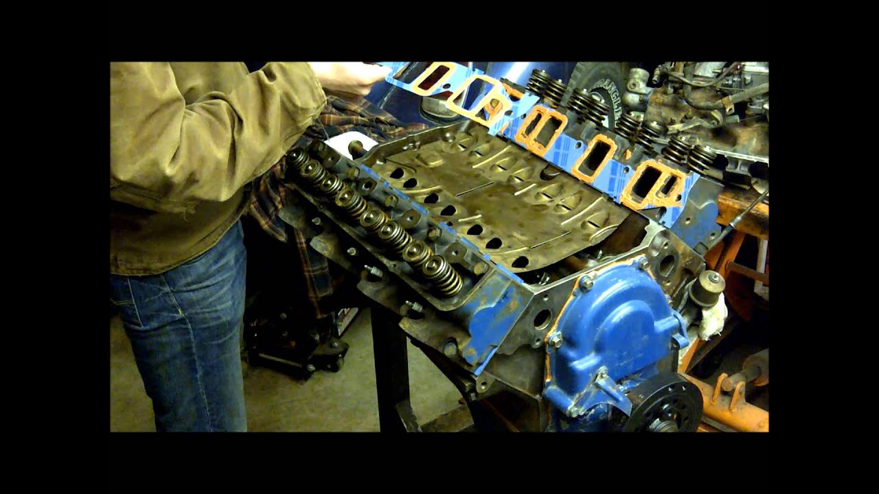 medium resolution of 390 fe intake manifold install how to 390 360 428 fe