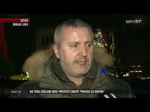 UŽIVO IZ BANJE LUKE: NA TRGU KRAJINE NOVI PROTESTI GRUPE 'PRAVDA ZA DAVIDA' (30 12 2018)