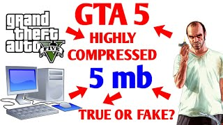 Download & Install GTA 5 4MB Highly Compressed On PC || Real Or Fake?? With Proof