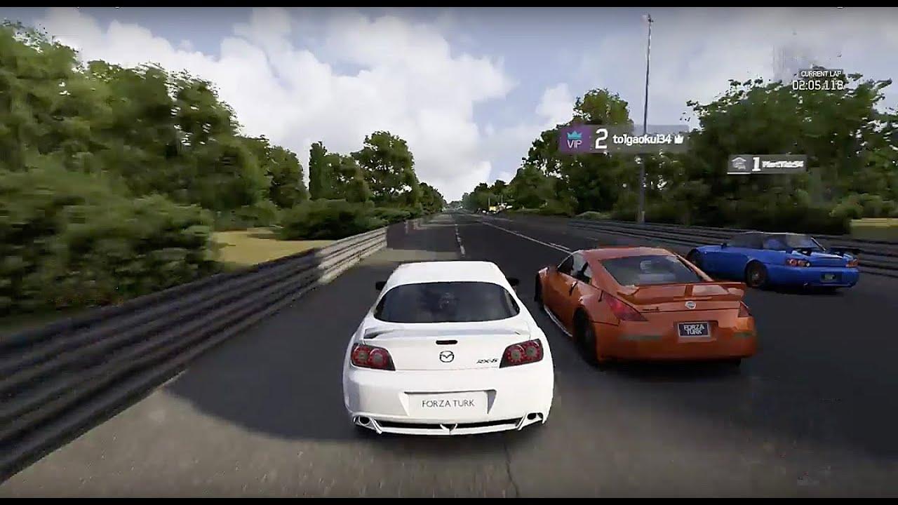 Forza 6 STREET CARS ROLLNG  Mazda Rx8 vs Nissan 350z vsHonda