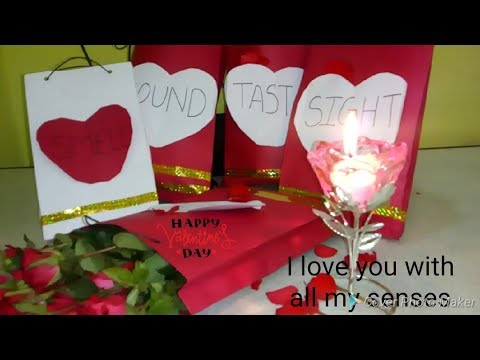 Valentine Special 5 Senses Gift Idea 5 Senses Gift For Him Diy 5
