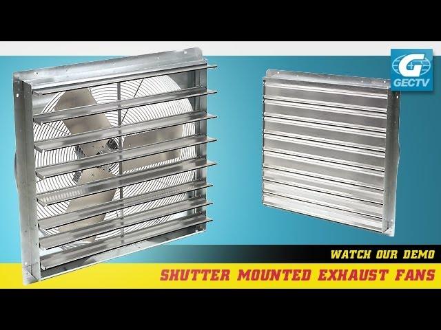 exhaust fan with shutter youtube