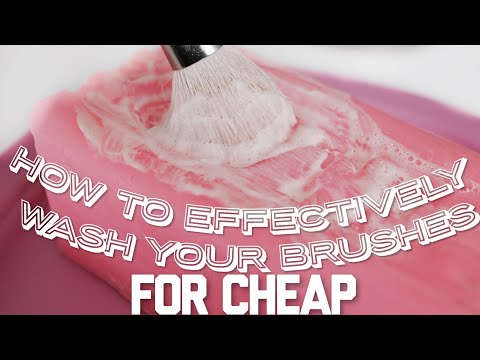 Affordable Effective Way To Clean Your Brushes!