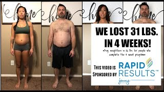 Today we share with you our results from four weeks on the jenny craig rapid program! avg. weight loss is 11.6 pounds for people who complete the...