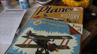 """Planes A Complete History"" book with 50 paper model planes"