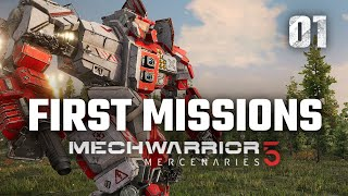 First Missions | Mechwarrior 5: Mercenaries | Full Campaign Playthrough | Episode #1