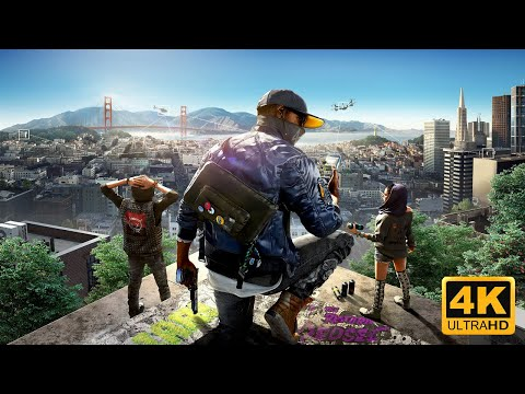 🎬 Watch Dogs 2 🎬  4k 60frps Game Movie Story Cutscenes + DLC [ 2160p 60FRPS ]
