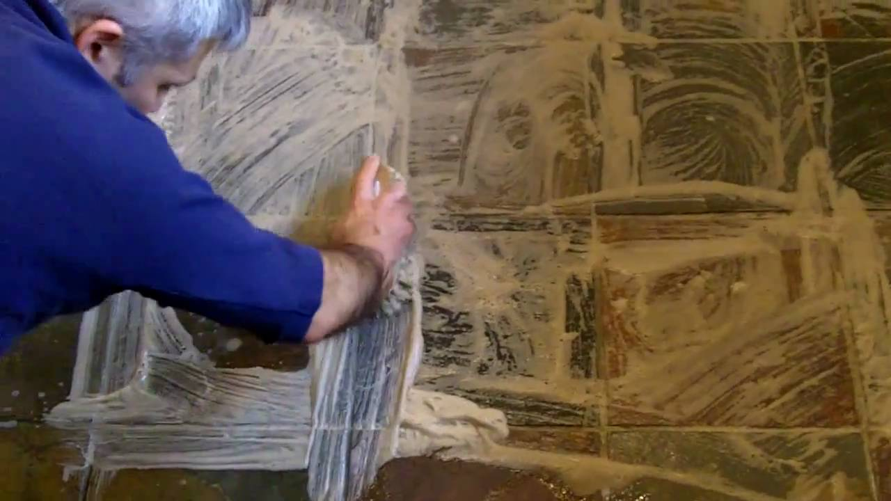 How to clean and seal a slate stone floor youtube dailygadgetfo Images
