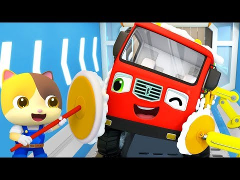 Monster Truck Takes a Bath | Fire Truck, Police Car | Nursery Rhymes | Kids Songs | BabyBus