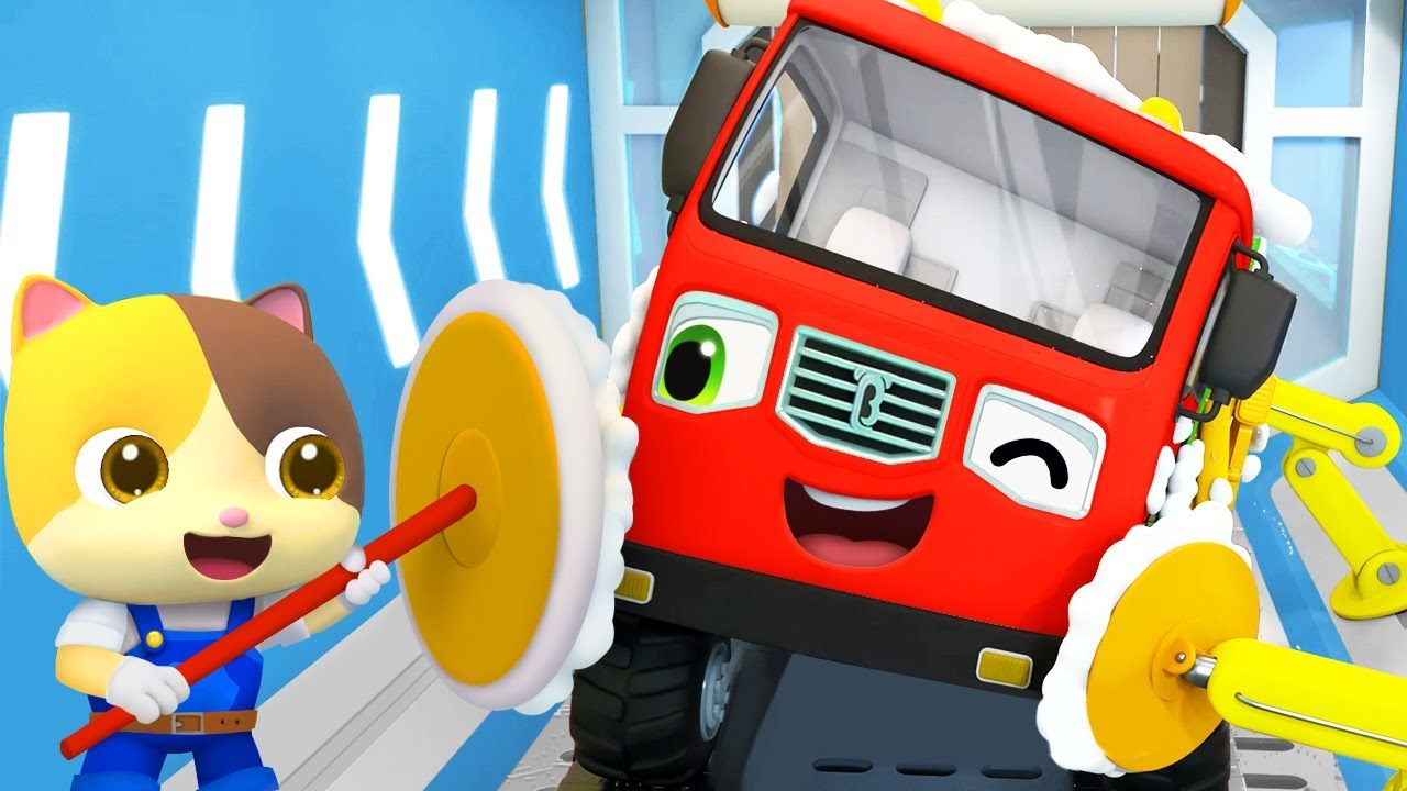 Monster Truck - Bath Song | Fire Truck, Police Car | Nursery Rhymes | Kids Songs | BabyBus