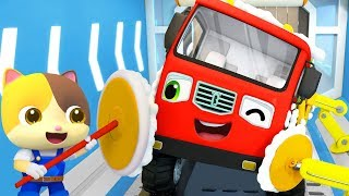 Gambar cover Monster Truck - Bath Song | Fire Truck, Police Car | Nursery Rhymes | Kids Songs | BabyBus