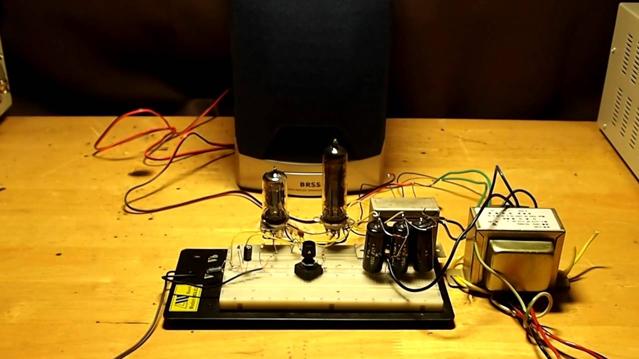 ECC83 and EL84 amplifier - YouTube