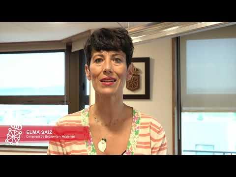 La consejera Elma Saiz valora el informe del PIB