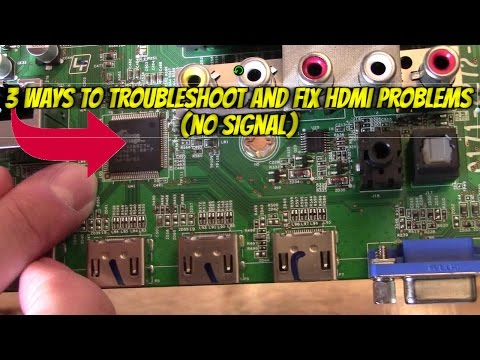 "3 WAYS TO FIX HDMI INPUT ""NO SIGNAL"" PROBLEMS, TROUBLESHHOT GUIDE"