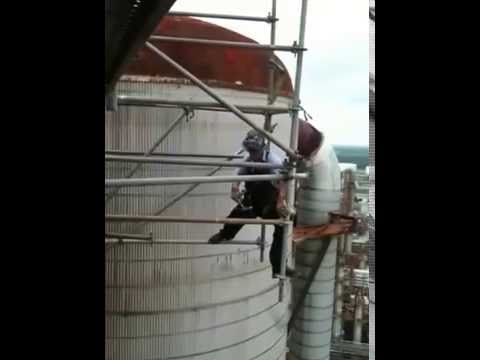 HOMER SEGURA on a 10ft kick out hanging scaffold