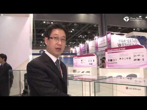 LG Siltron KES 2012 Silicon wafer Ingot Demo Seoul