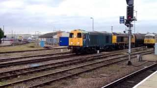 Tube Stock & Freight @ Derby 26/11/13 Classes 20/56/66