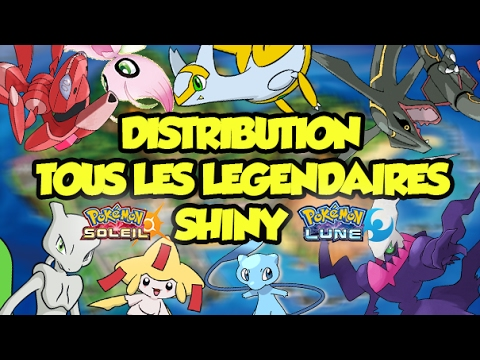 Distribution de tous les pokemon legendaires shiny strats lvl100 6iv pokemon soleil et lune - Legendaire shiney ...