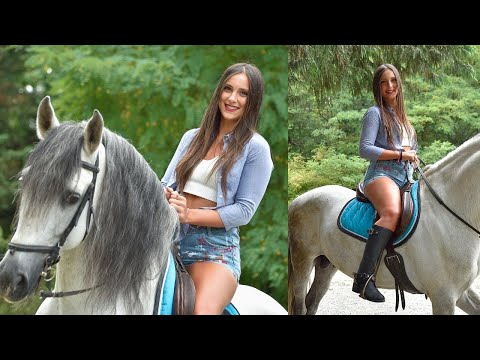 NEW CLIP AND NEW RANGE OF VIDEOS !!! Horse Riding Vamp | Sexy Girls Riding Horses - Miss Iris