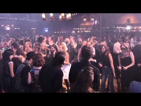 Line dancing at Chanel's Métiers d'Art Fashion Show in Dallas