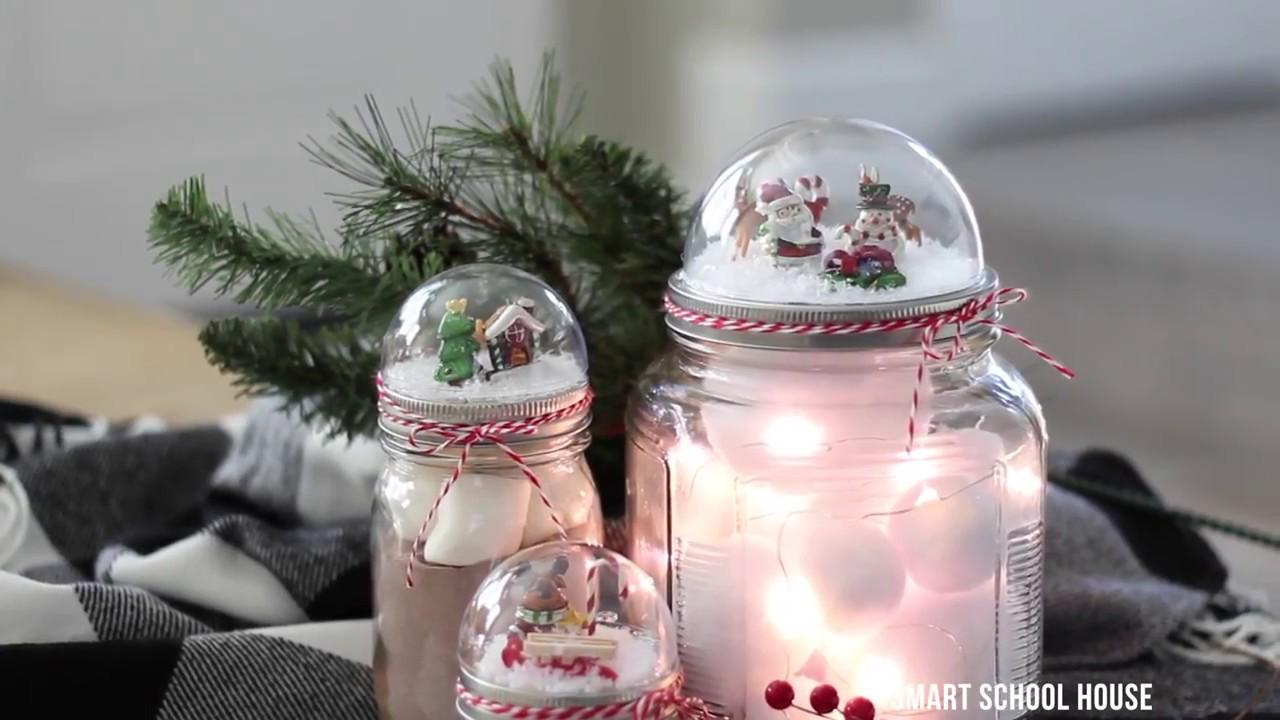 Mason Jar Lid Snow Globe YouTube