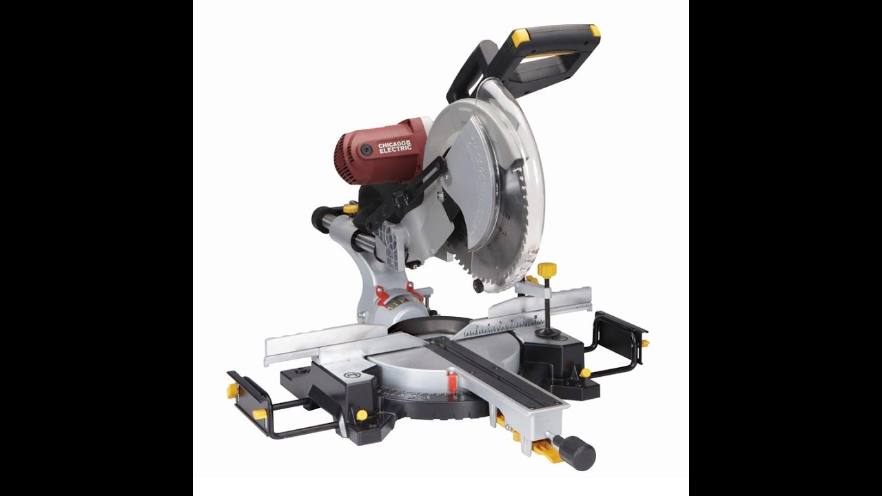 Chicago electricharbor freight 12 sliding dual bevel miter saw chicago electricharbor freight 12 sliding dual bevel miter saw review brians workshop youtube greentooth Choice Image