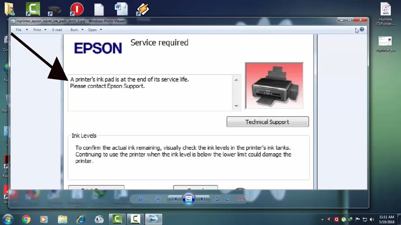 Epson L380,L220,L480,L460,L210!!! INK PAD RESET SERVICES LIFE END !!! FIX  THIS PROBLEM!!! by Ultimate Hindi Tips