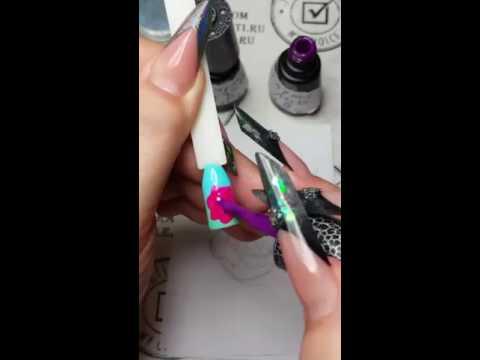 Юлия Билей  - Новая Роза / Julia Biley - New Rose nail art Periscope