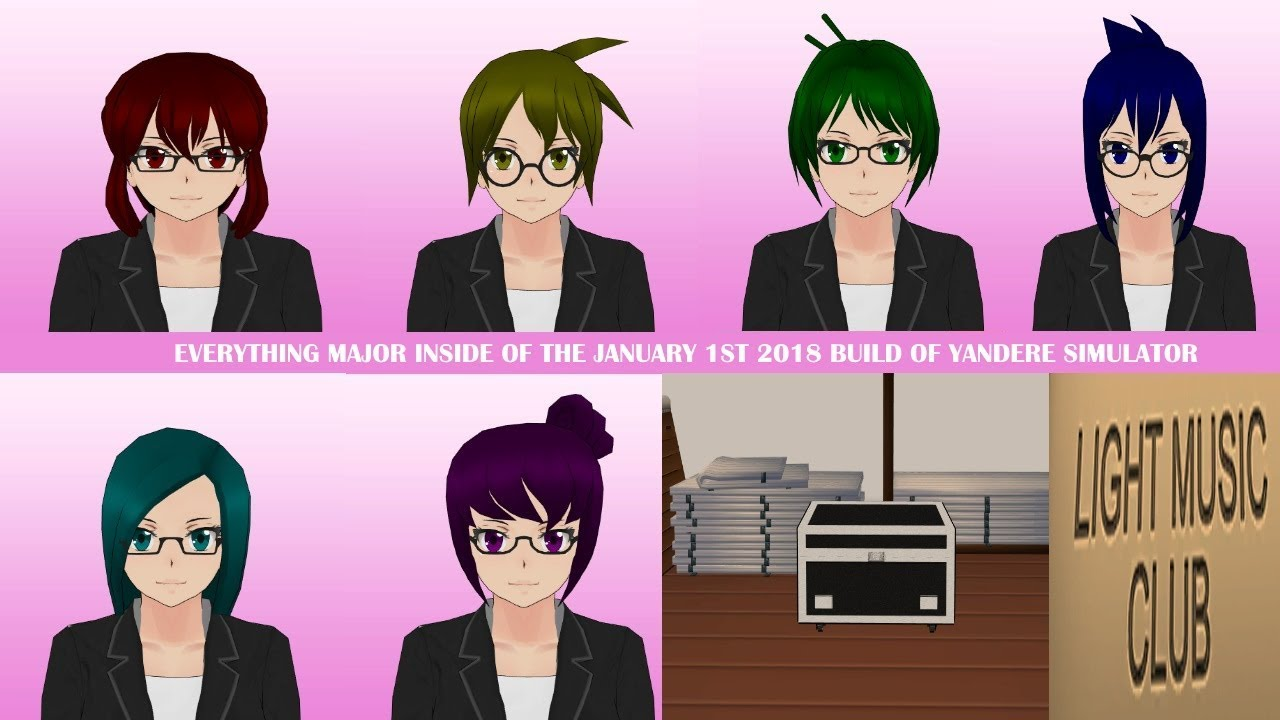 Almost Everything Major In The January 1st 2019 build of Yandere Simulator