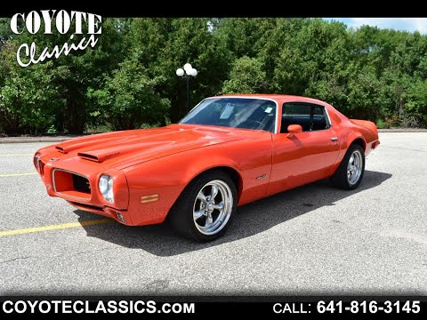 1970 Pontiac Firebird For Sale At Coyote Classics $30,995