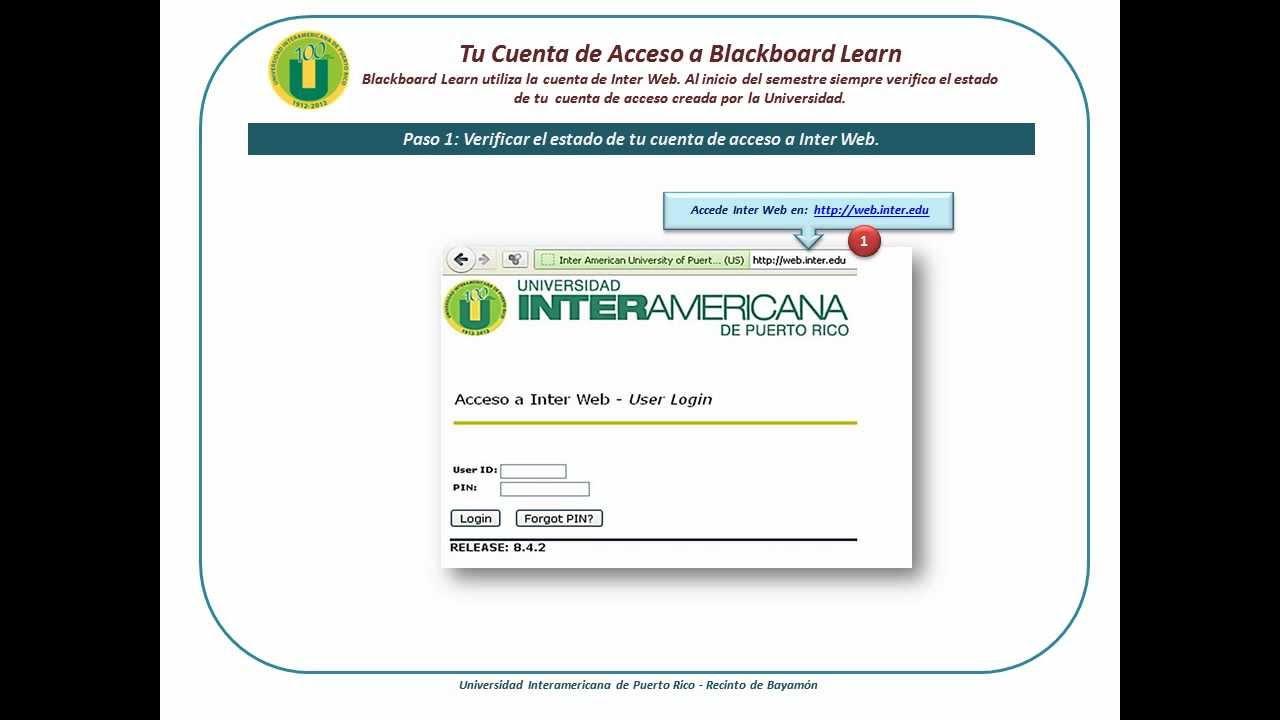 inter bayamon blackboard