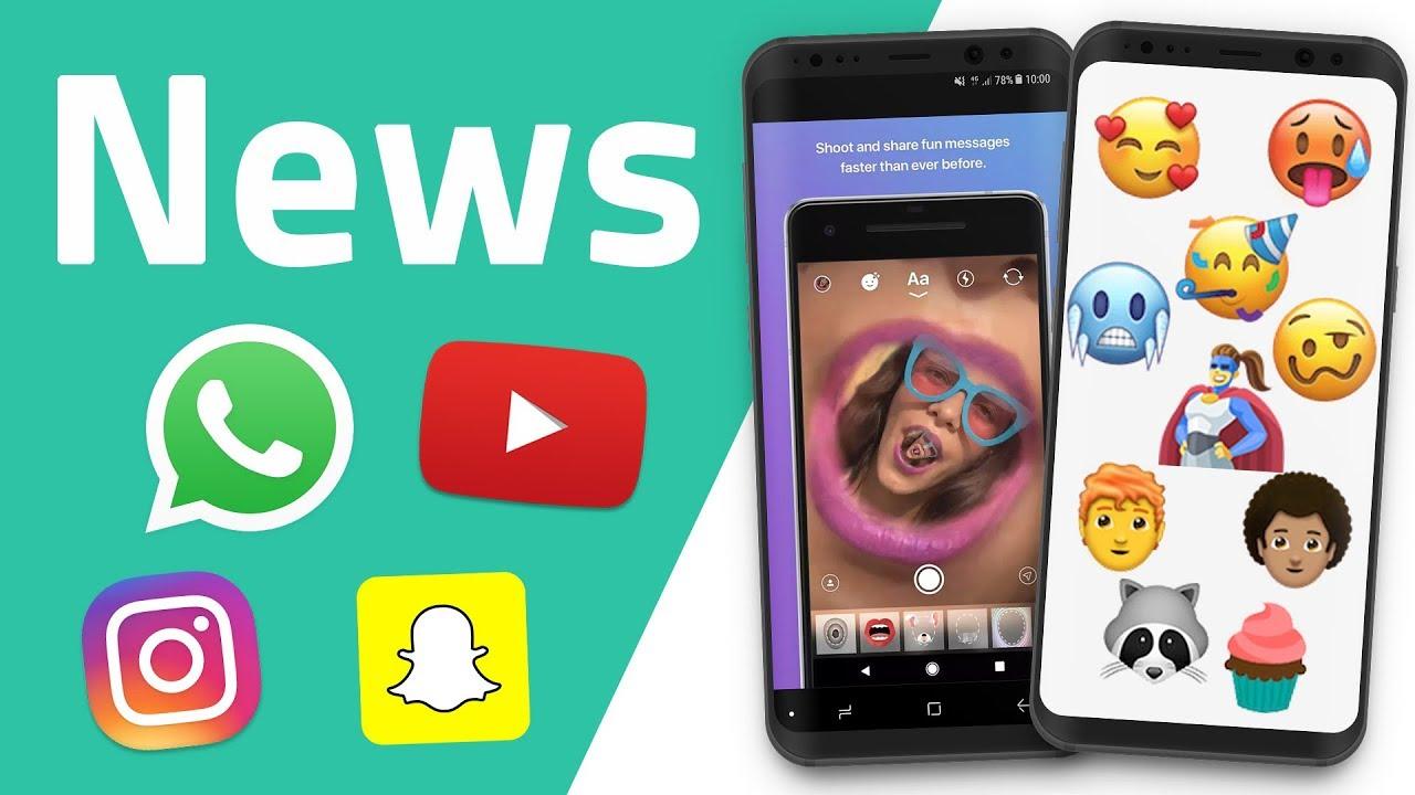 Youtube Stories Instagram Messenger Emojis 2018 Whatsapp News Und