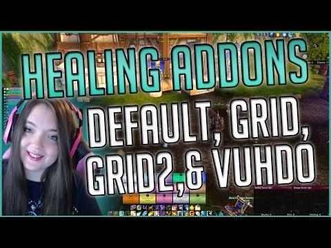 Legion Healing Addons Default, Grid, and VuhDo