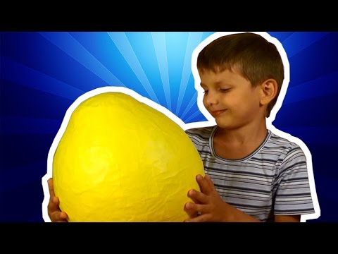 Миньоны 2015 Big yellow egg kinder surprise minions фигурки миньонов игрушки