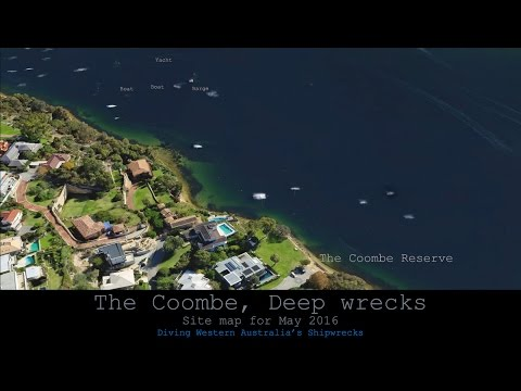Coombe Deep Water Wrecks. Mosman Bay, Swan River. Western Australia